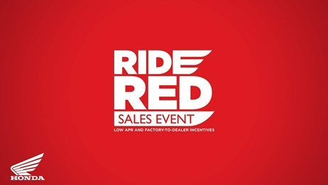 Honda Red Ride Sales Event - All Motorcycles